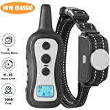 PeiTe Dog Training Collar - Dog Shock Collar with Remote 100% Rainproof Battery Beep Vibration Shock Collar up to 1000ft Remote Range for Small Medium Large Size Dog