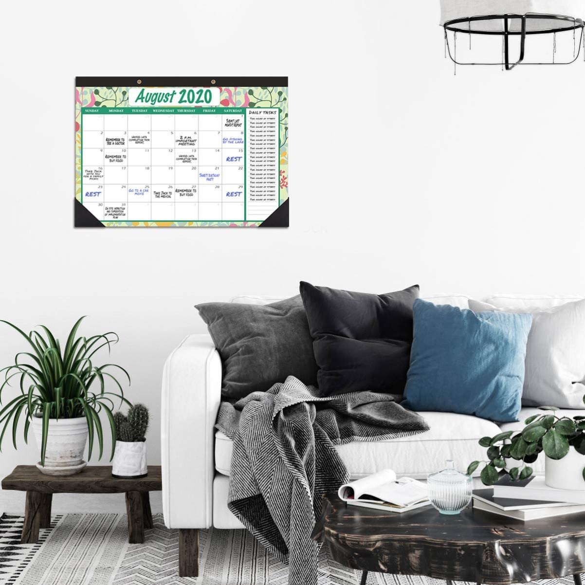 2 Jahre L/äufe STOBOK Schreibtischkalender 2020-2021 43 x 30,5 cm Wandkalender Tageskalender H/ängeplaner gro/ße Monatsseiten Kalender ab sofort bis Dezember 2021