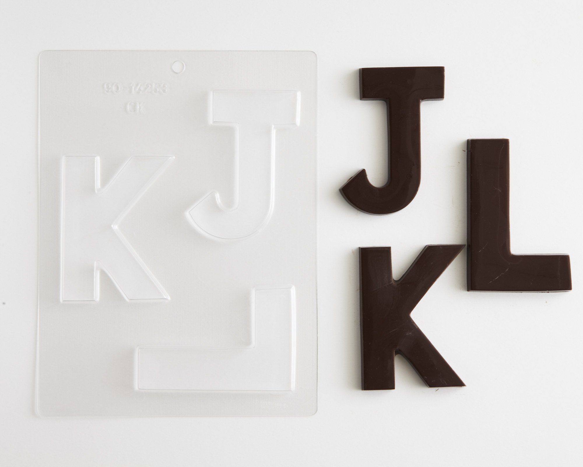 Large Block Letters Chocolate Candy Molds - A - Z (8) 4'' Letter Alphabet Set (Cakegirls Chocolate Mold Instructions Included) by Cakegirls (Image #4)