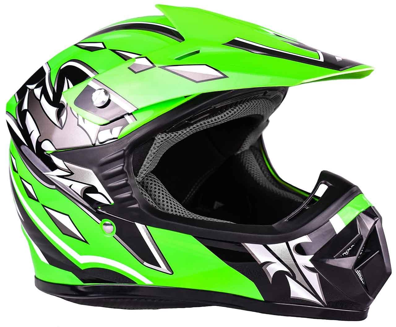 Amazon.com: Youth Kids Offroad Gear Combo Helmet Gloves Goggles DOT Motocross ATV Dirt Bike MX Motorcycle Green (Small): Automotive