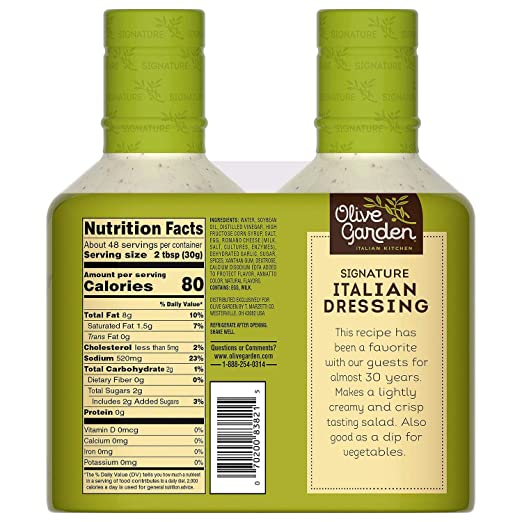 Amazon Com Olive Garden Italian Dressing 2 24 Ounce Bottles