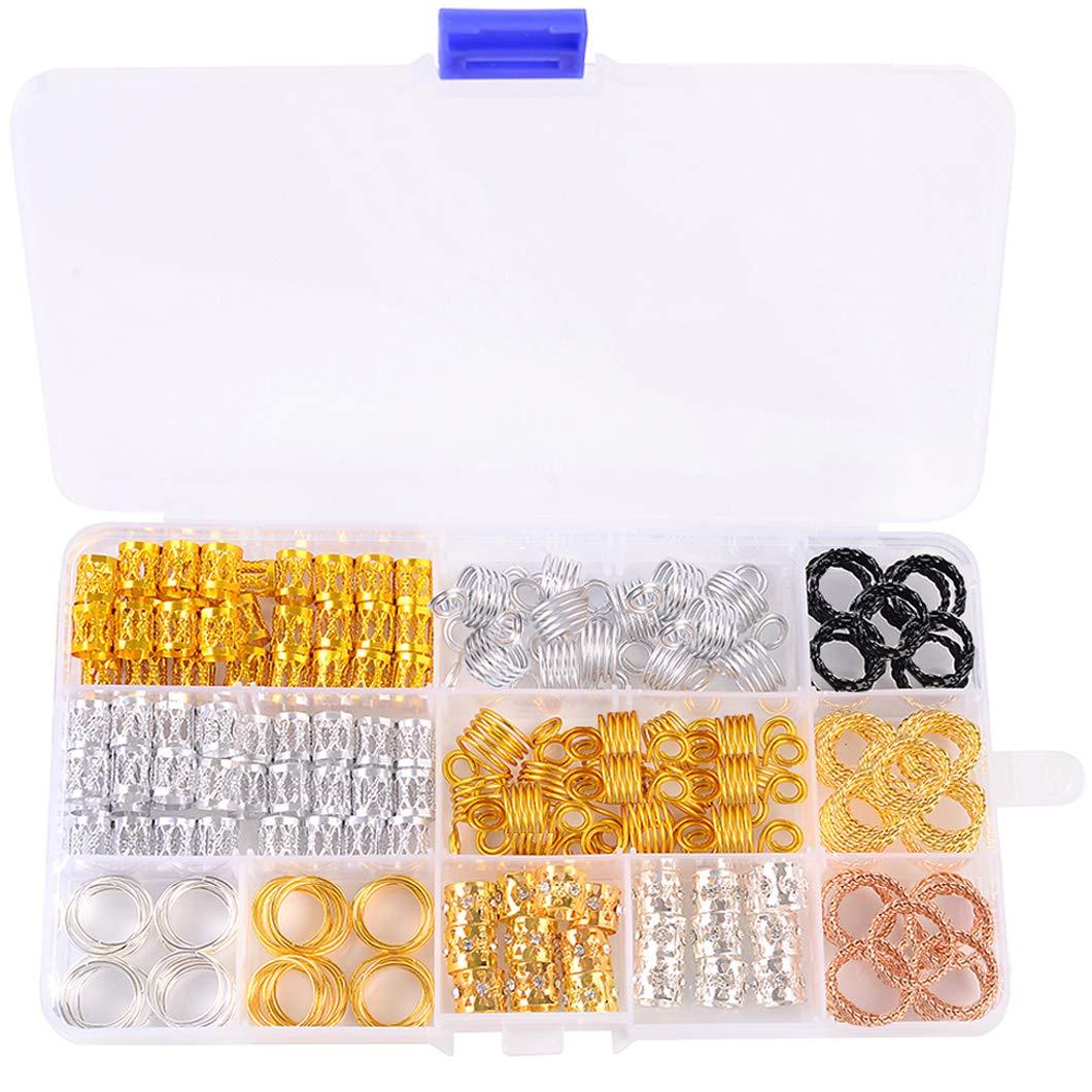 10pcs Hair Braid Dreadlock Beads Cuffs Rings Tube Hoop Circle Accessories  np