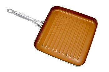 """Gotham Steel 10.5"""" Square Aluminum Grill Pan"""