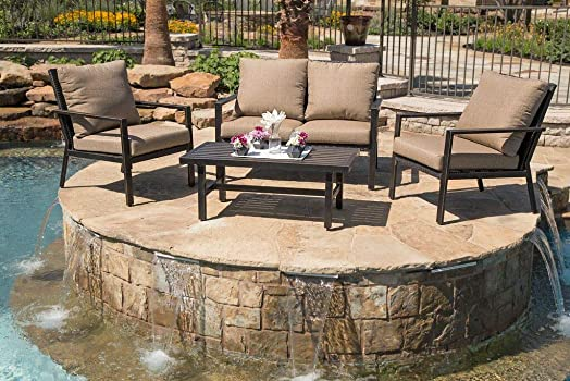 Lonestar 4 Piece Patio Sofa Set