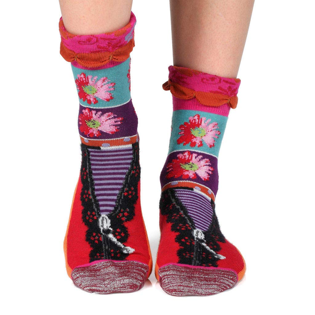 Reveal women/'s crazy combed cotton crew socksFrench design by Dub /& Drino