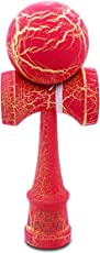 Kaleb USA Red & Yellow Full Cracked Kendama and Extra String