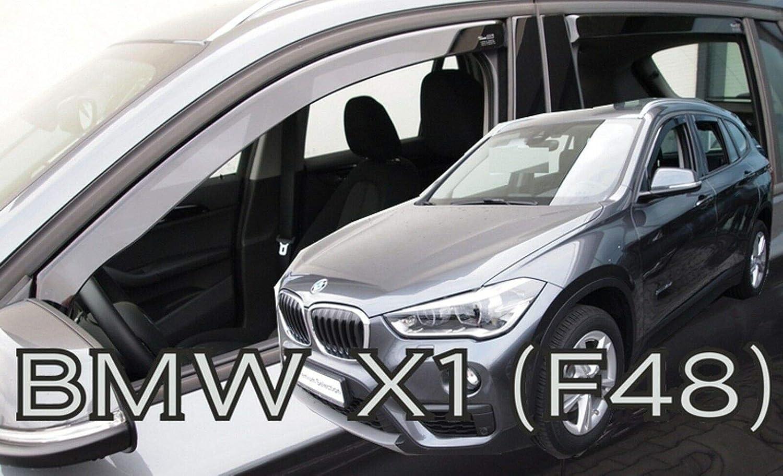 Deflecteurs dair d/éflecteurs de Vent Compatible avec BMW X1 F48 2015-pr/és 4 pi/èces J/&J AUTOMOTIVE