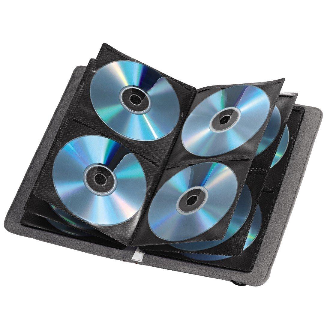 Grey Hama Case for CDs//DVDs 48 Disc Capacity Felt
