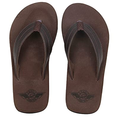 543d8c8b8 Emosis Men s Stylish 272 Tan Brown Black Colour Casual Daily Use Rubber Unisex  Slipper and Flip-Flop  Buy Online at Low Prices in India - Amazon.in
