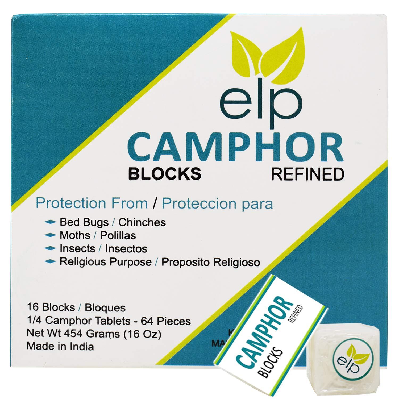 Camphor Blocks Jai Hanuman 64 Pieces 16 Oz by ELP ESSENTIAL