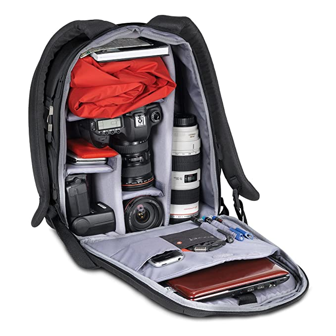 300a87de61 Manfrotto MB SB390-5BB Zaino Serie Veloce per Fotocamera DSLR, Misura  Medie, Nero: Amazon.it: Elettronica