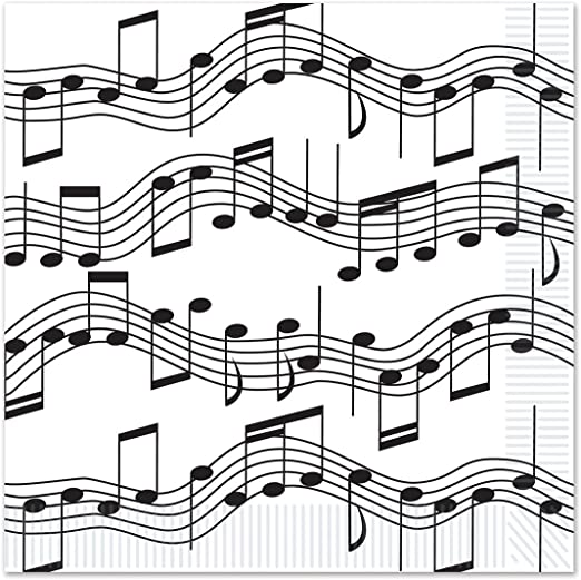 Music Note Super Party Decorations Bundle Tablecover Hanging Swirls Plates Napkins Beistl