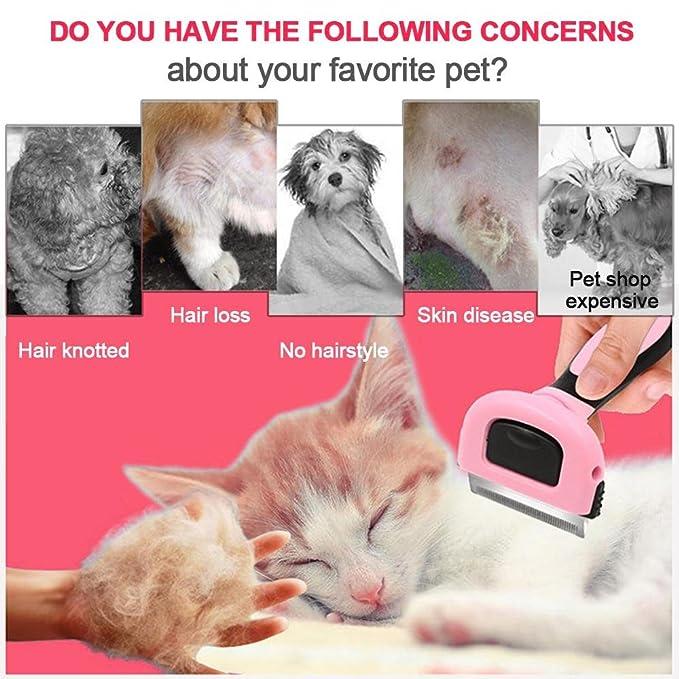 Cepillo de peluquería para mascotas, cepillo de peluquería profesional, elimina eficientemente el pelo suelto y reduce la pérdida de pelo para perros y ...