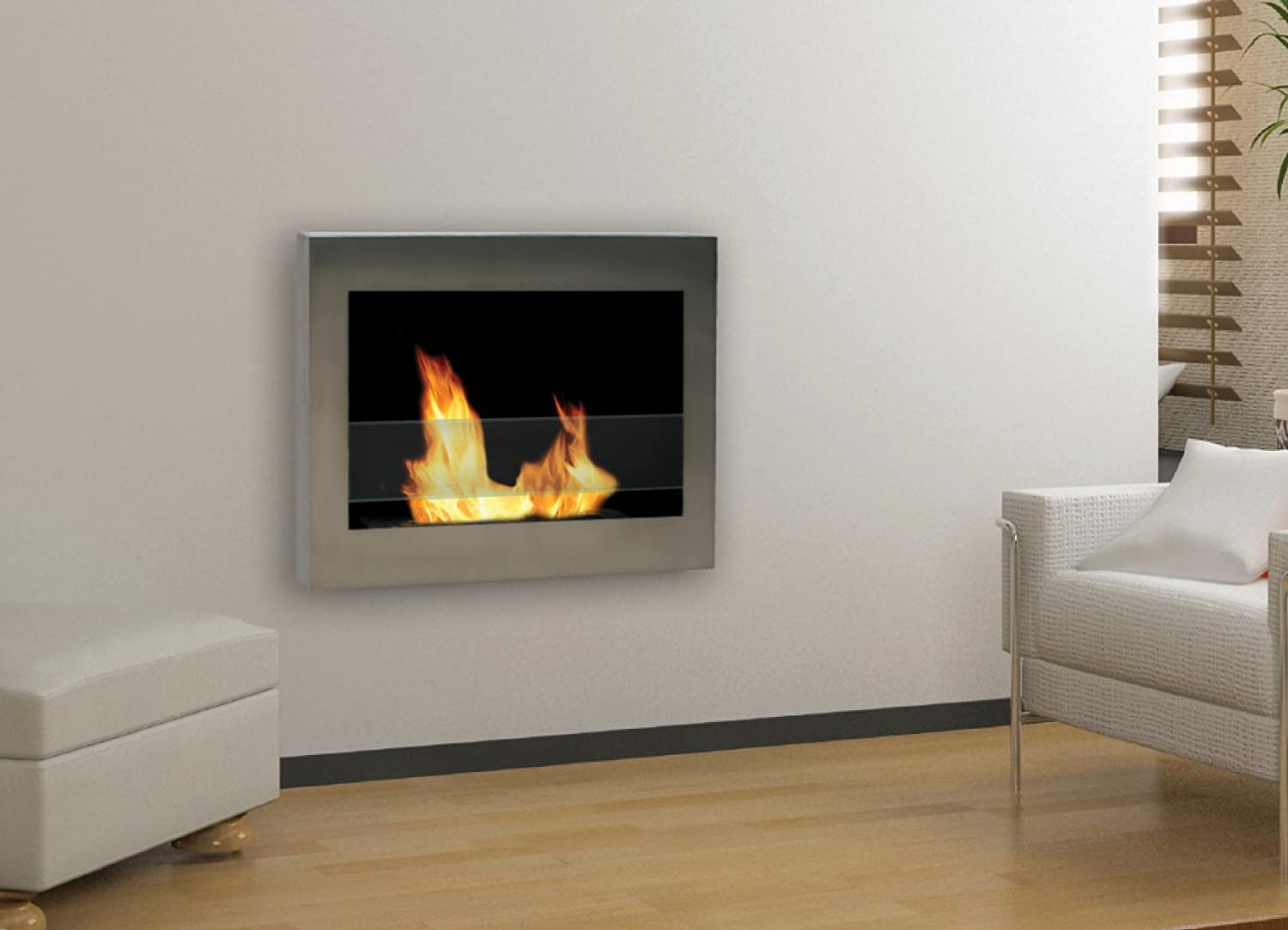 amazon com anywhere fireplace soho stainless steel wall mount