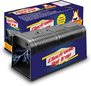 Electronic Rat Trap Upgraded version - electric mouse traps that work - powerful mice killer - humane rat zapper - best chipmunk trap - indoor outdoor rodent trap - squirrel exterminator