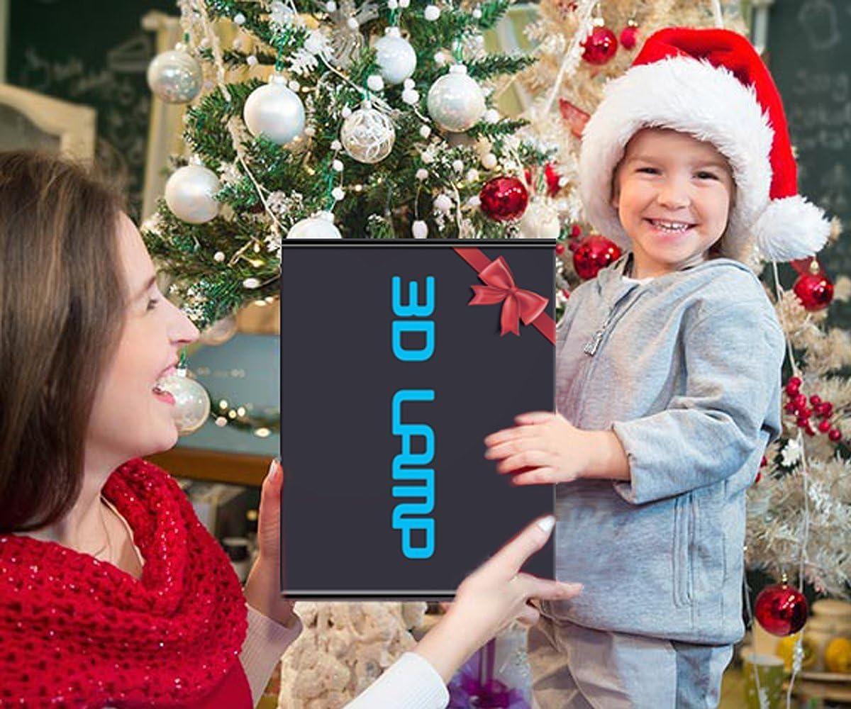 HPBN8 Ltd Ilusi/ón Optica 3D Islam Luz Nocturna L/ámpara 7//16 Colores Control Remoto USB Power Sirena Juguetes Decoraci/ón Navidad Cumplea/ños Regalo