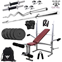 SPORTO FITNESS 50KG Combo Home Gym with Multi Bench 1210