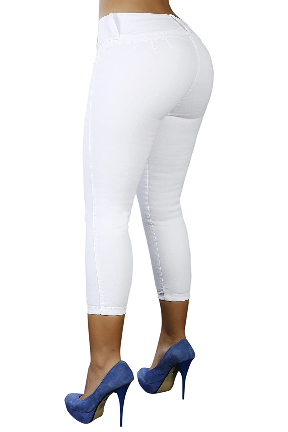 Cropwhite Curvify 764 Women's ButtLifting Skinny Jeans   HighRise Waist, Brazilian Style
