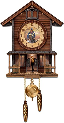 The Bradford Exchange John Wayne American Icon Collectible Cuckoo Clock