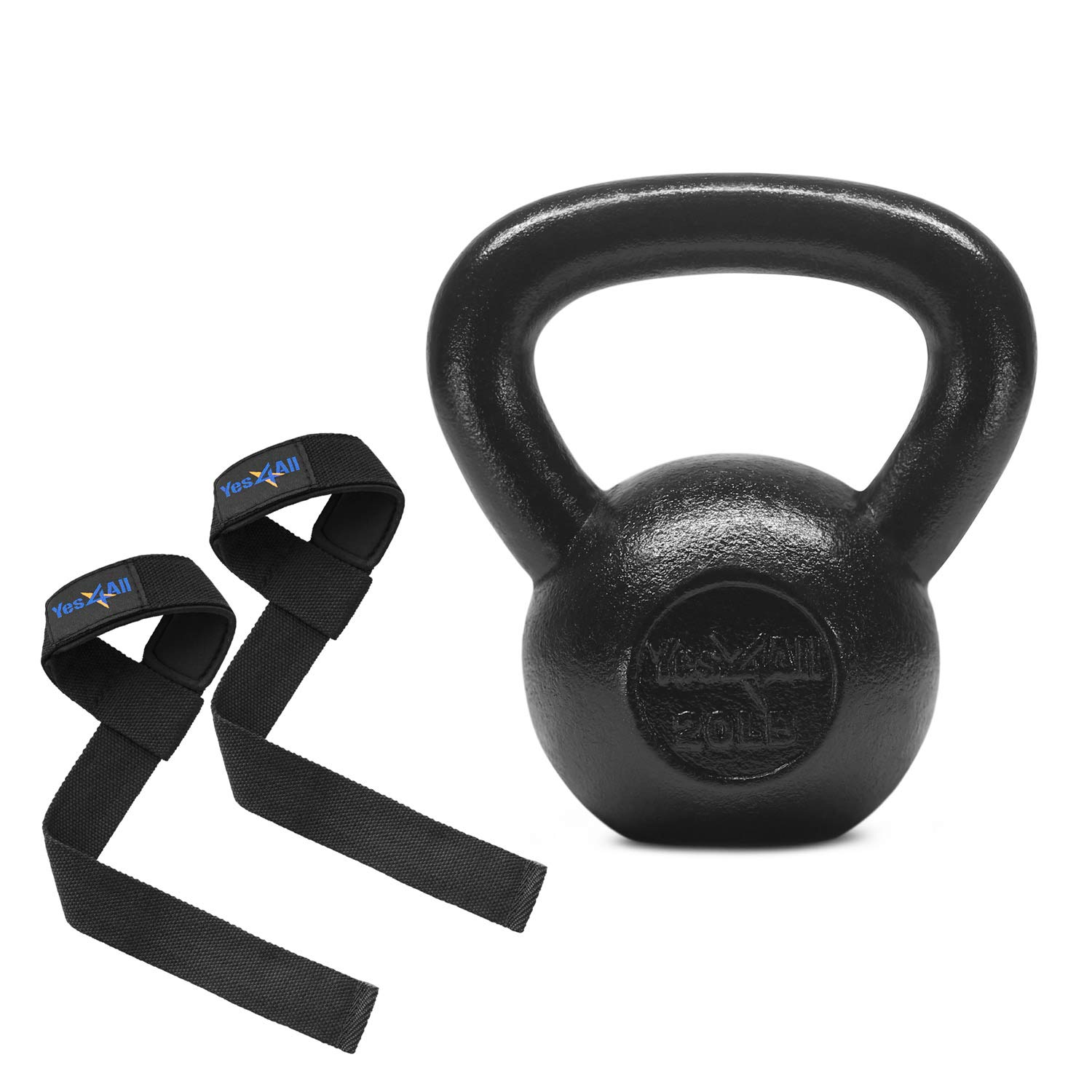 Yes4All Solid Cast Iron Kettlebell Weights Set – Great for Full Body Workout and Strength Training by Yes4All (Image #1)