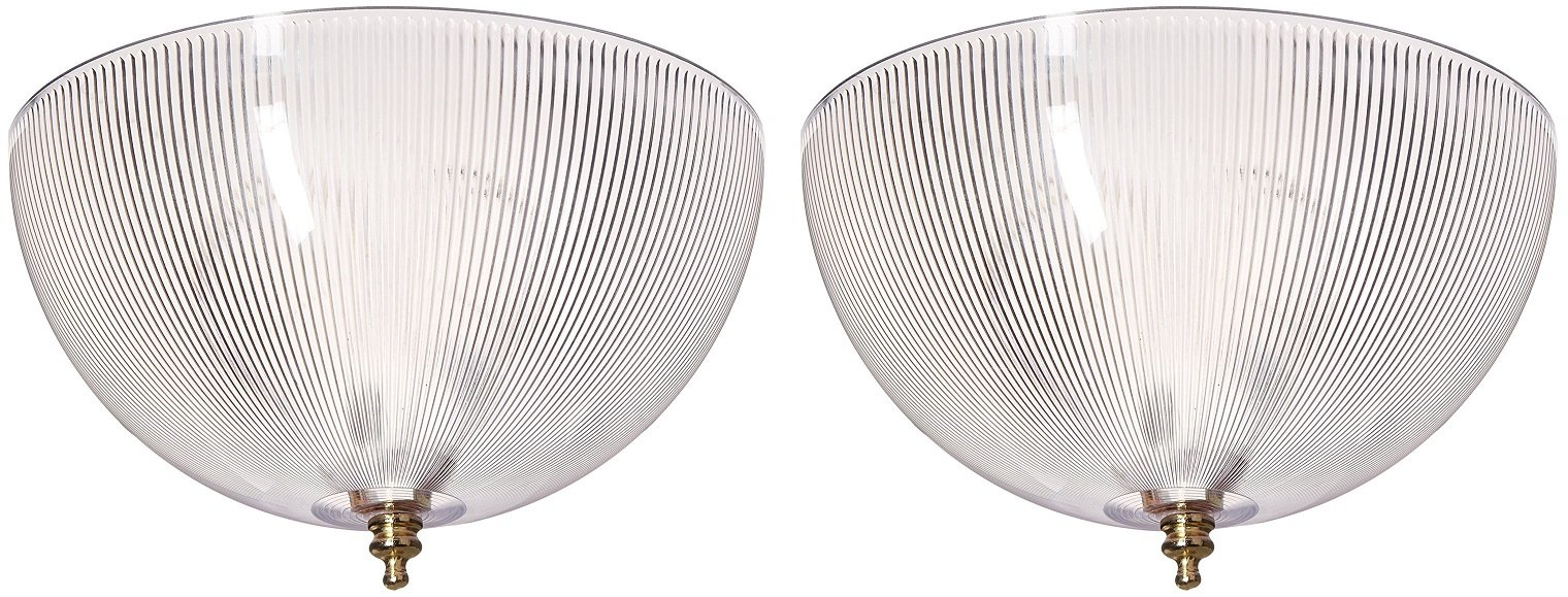 Westinghouse 81493 (FMR Angelo Bros) Clip-On Shade, 8'' x 4'' - 2 Pack