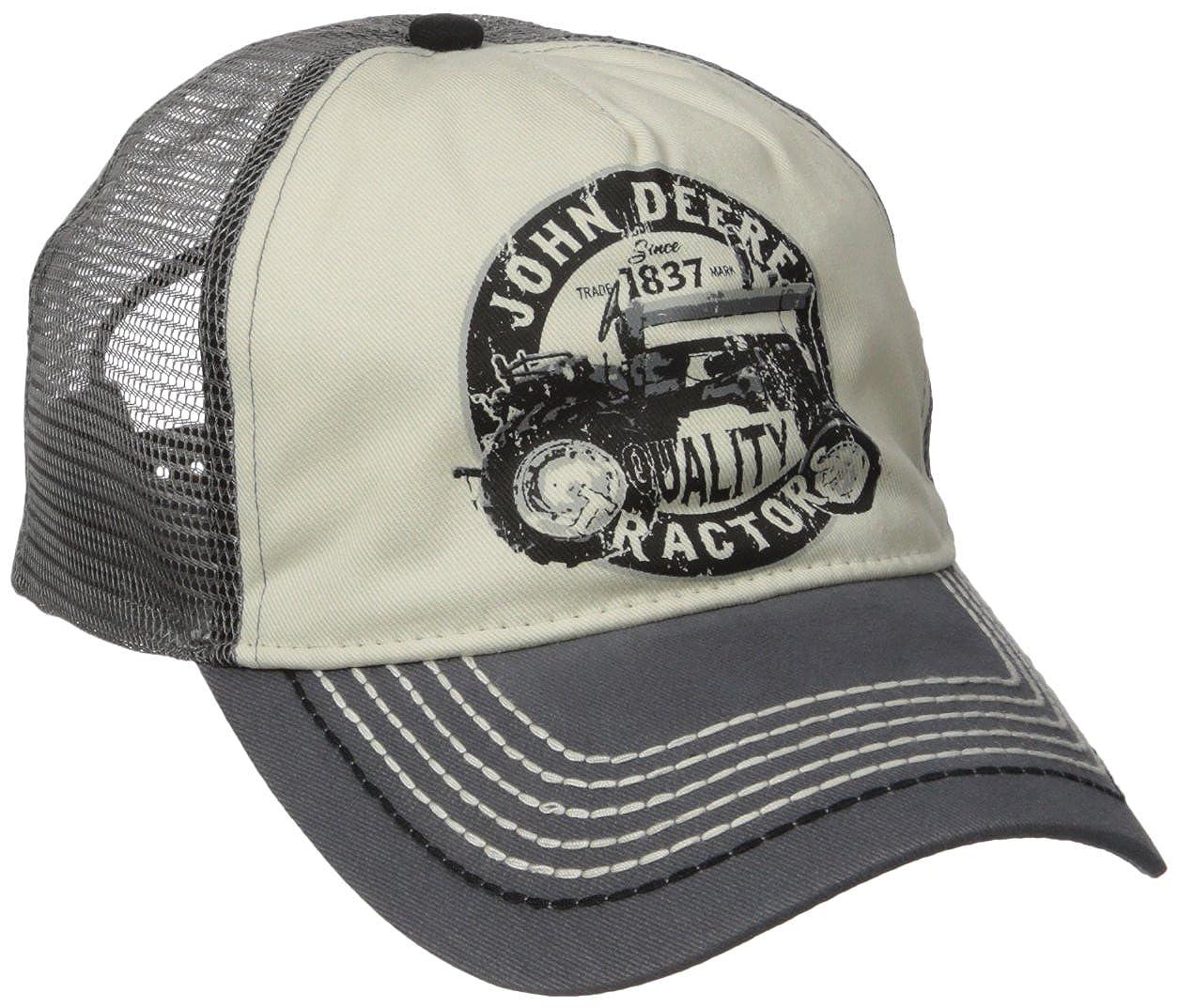 John Deere Men's Vintage Tractor Mesh Back Cap One Size John Deere Men' s Apparel 13080288CH