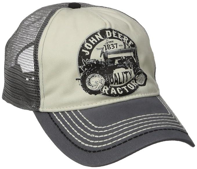bbfbd575ab076 John Deere  Quality Tractors  Logo Mesh Back Baseball Hat - One-Size ...