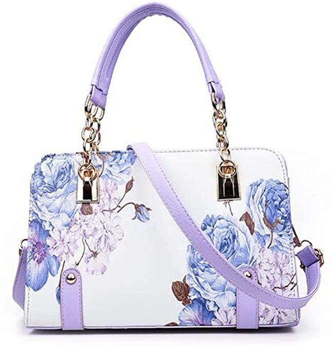 Amazon.com: Beautface Makeup New luxury women Shoulder bag Flower Leather bag handbag women famous brand designer ladies hand bags sac a main femme de ...
