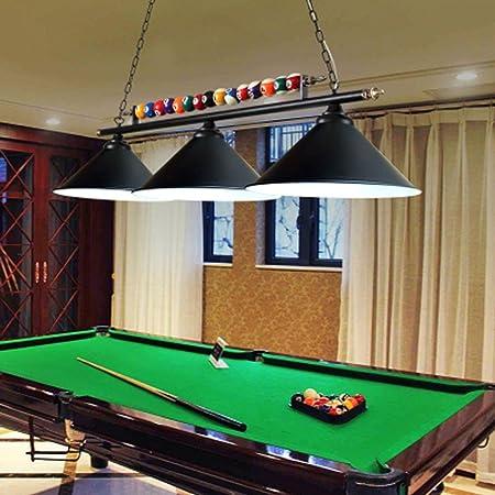 Lámpara Lámpara de mesa LED con luces de snooker de hierro ...