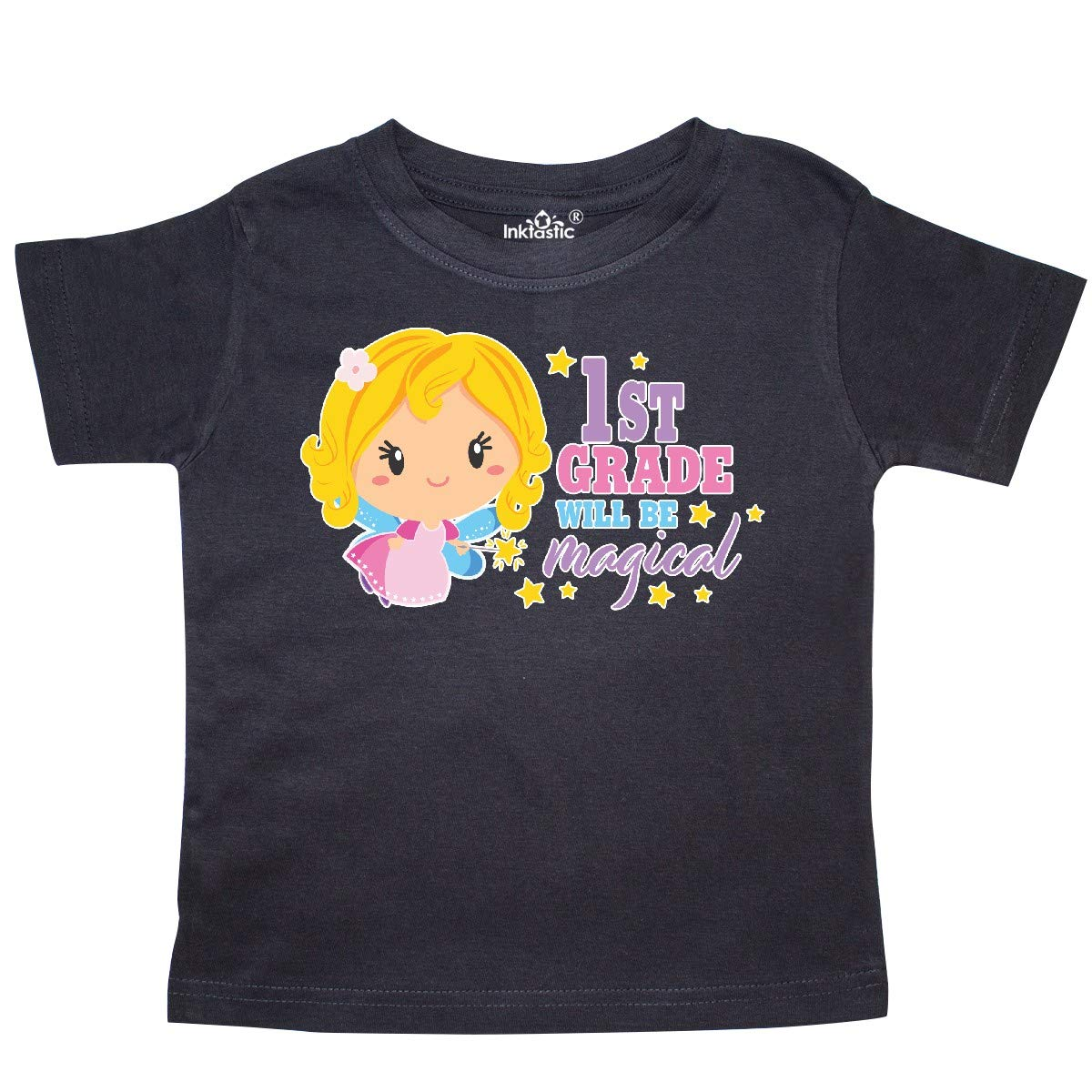 inktastic 1st Grade Will Be Magical with Blonde Haired Fairy Toddler T-Shirt