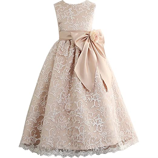 Amazon.com: Boloni Dress Pageant Wedding Dress Flower Girls ...