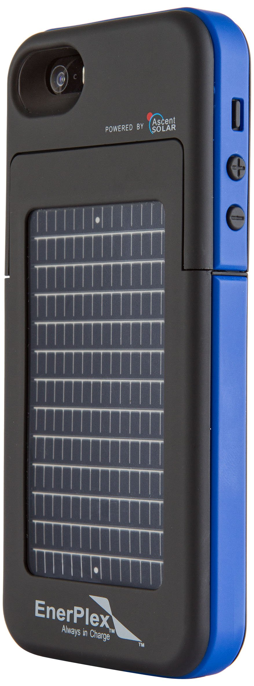 EnerPlex Surfr Ultra Slim Battery Backup & Solar Powered Case for iPhone SE/5/5S, Black/Blue, SFI-2000-BL