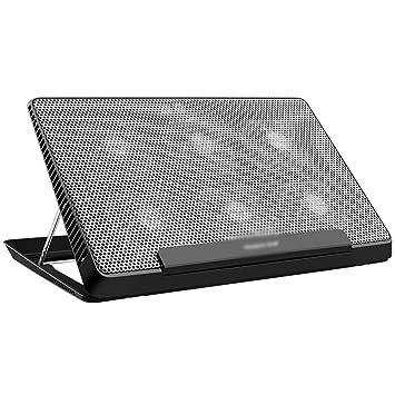 PANGU-ZC Refrigerador para computadora portátil: Ajuste de Altura de 6 velocidades portátil Plegable, Panel de Aluminio para 17 Pulgadas o Menos: Amazon.es: ...