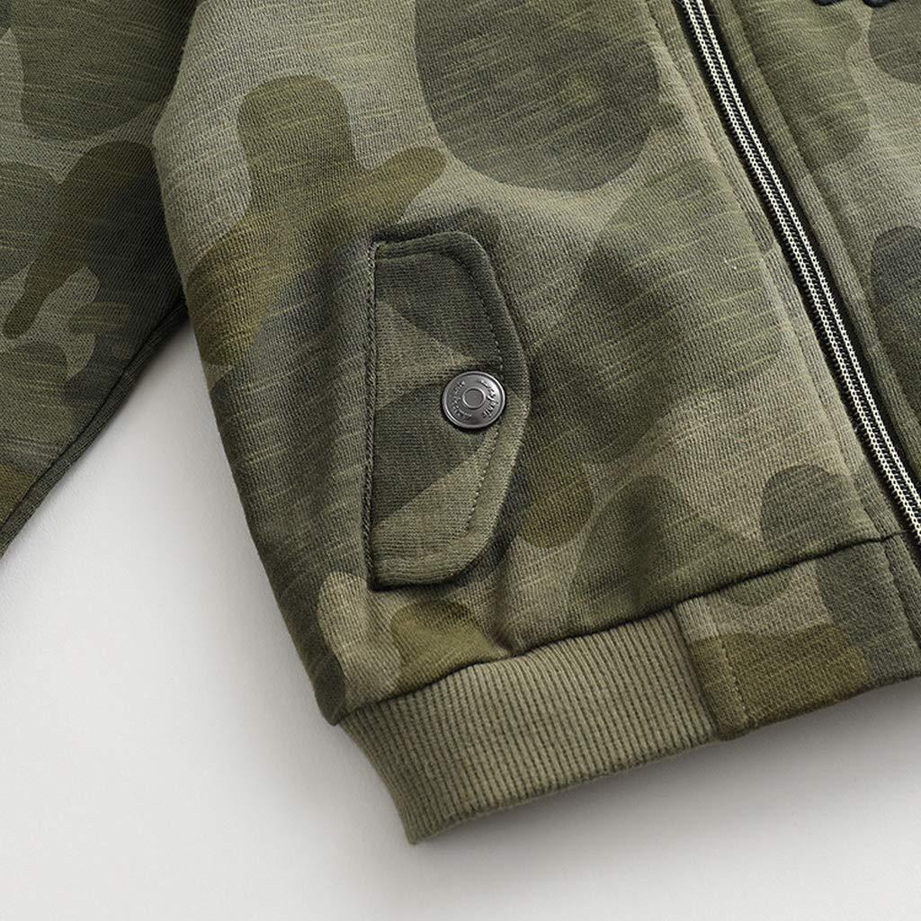 marc janie Little Boys Autumn Embroidered Camouflage Jacket Pants Set Baby Boys Sport Set