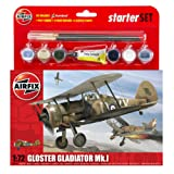 Airfix 1:72 Gloster Gladiator Mk.I Starter Aircraft Model Set (Medium)