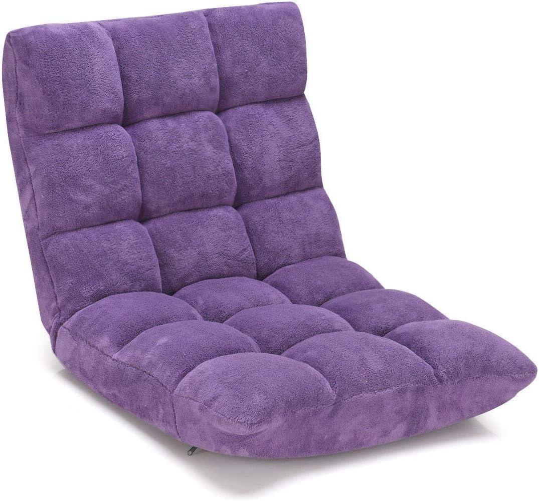 Violet SSLW 14 Position Plancher Pliant Jeu Chaise Canap/é Lit Pliant Sleeper R/églable Lit Canap/é Inclinable