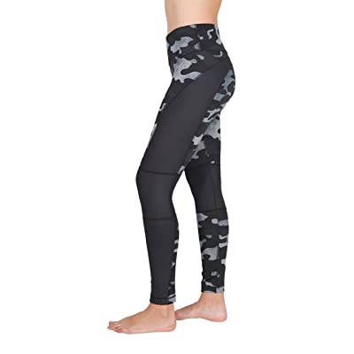 90 Degree By Reflex Etched Camo Print Workout Leggings at Women's Clothing store