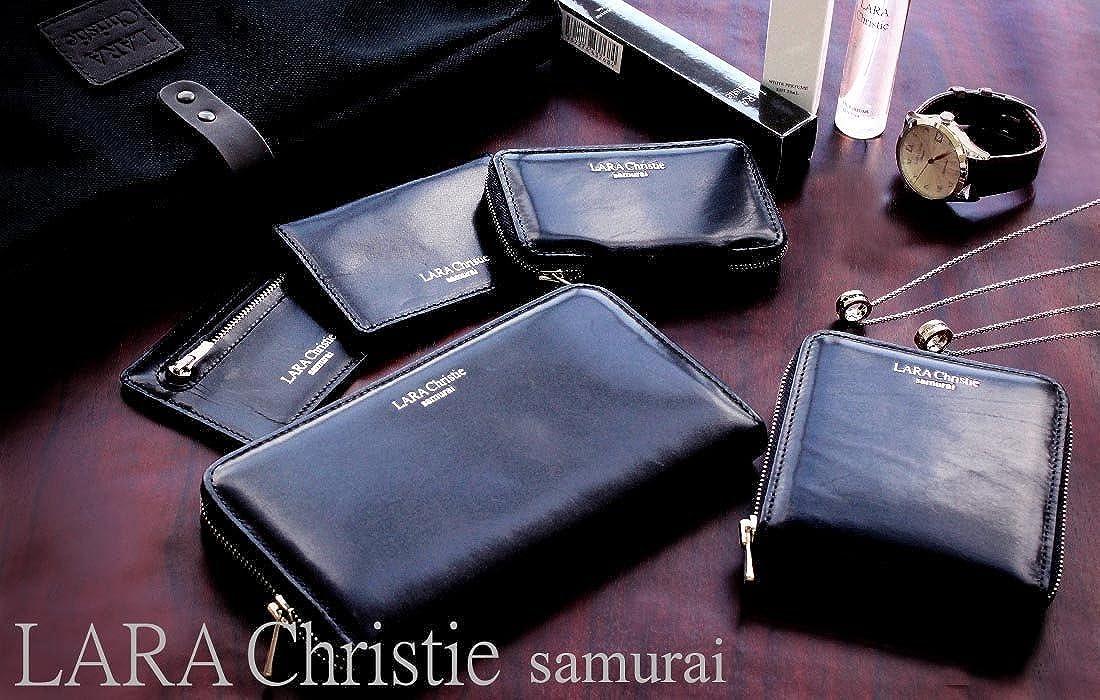 1316c02e6ef5 Amazon | [ララクリスティー] LARA Christie samurai ラウンド ジップ ロングウォレット 長財布 ブラック | 財布