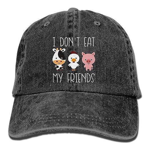 586f3533de6f I Don t Eat My Friends Baseball Hat Men And Women Summer Sun Hat Travel  Sunscreen Cap Fishing Outdoors at Amazon Men s Clothing store