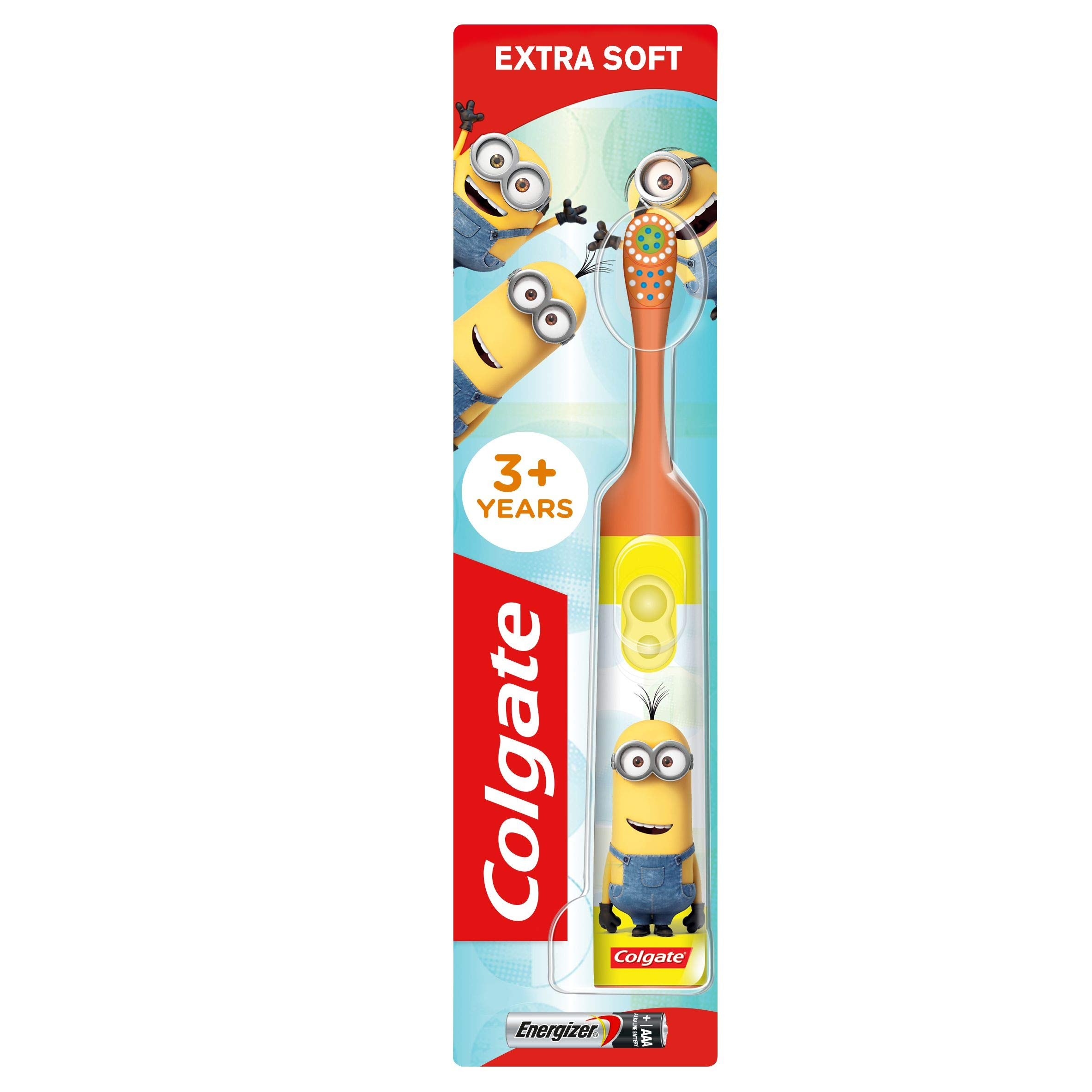 Colgate Kids Minions Extra Soft Battery Toothbrush, 3+ Years