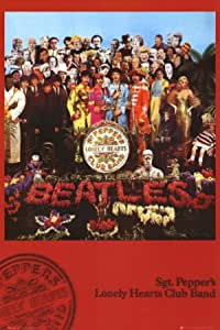 Peppers Lonely Hearts Club Band- 8 x 10 Wall Print- Ready To Frame- Vintage Song Poster The Beatles- Music Poster PrintSgt Perfect For All Beatles Fans. Home Decor-Studio-Bar-Dorm-Man Cave Decor