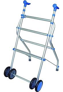 Andador ultraligero y plegable de aluminio con ruedas dobles - Modelo Anota 100 sin asiento