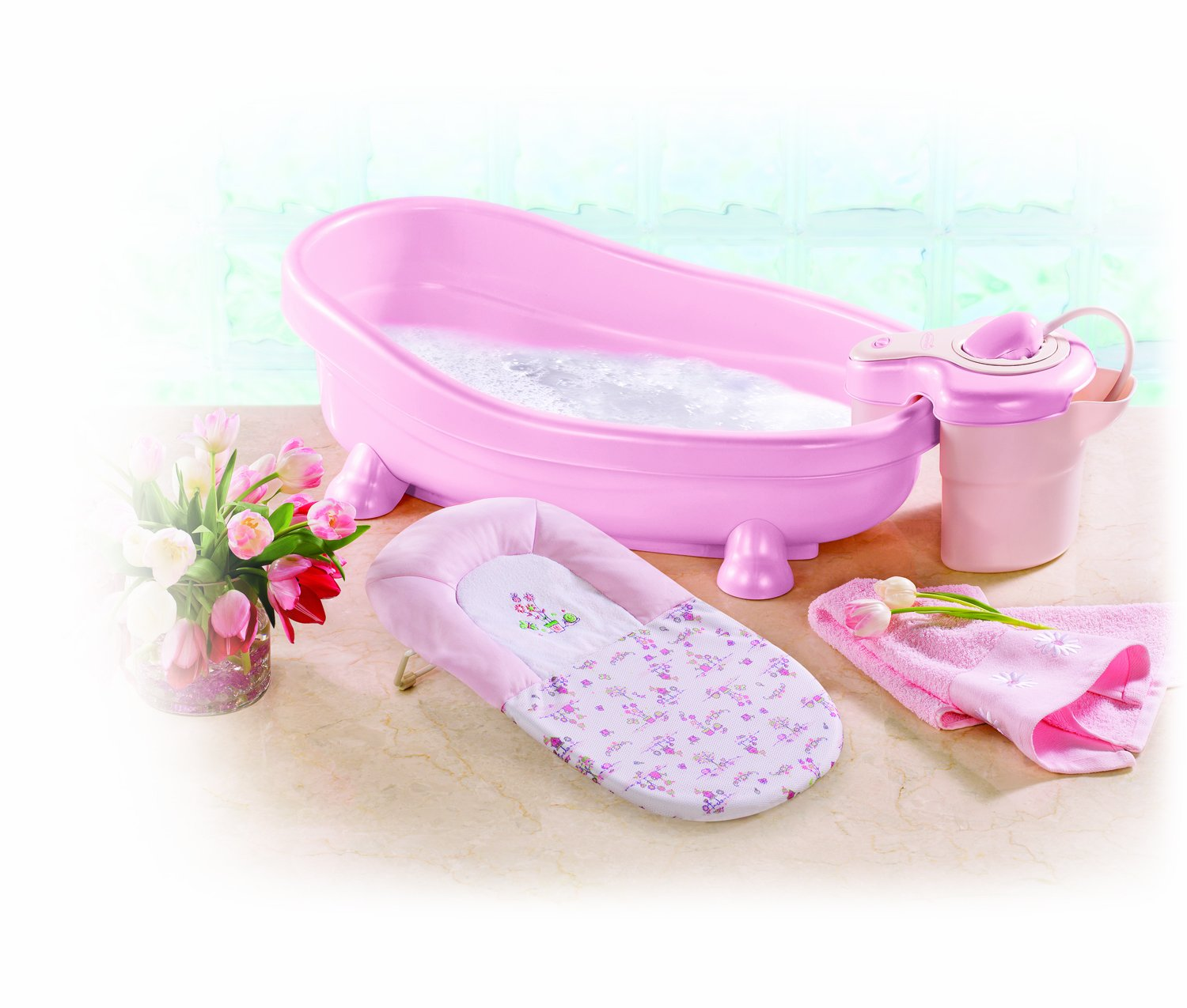 Summer Infant Soothing Bath Spa and Shower (Pink): Amazon.co.uk: Baby