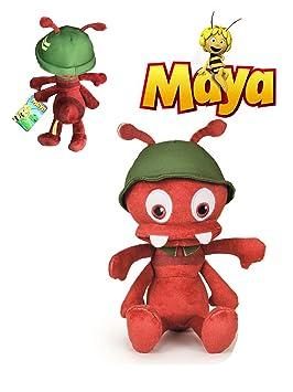 Maya abeja Peluche Paul, jefe de las hormigas 27cm Calidad super soft: Amazon.es: Juguetes y juegos
