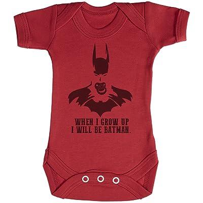 Baby Buddha Will Be Bat Manl When I Grow Up Body bébé - Gilet bébé - Body bébé ensemble-cadeau - 18-24 mois Rouge