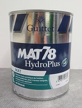 Guittet Peinture Guittet Mat 78 Hydroplus Blanc 1l Mat Blanc
