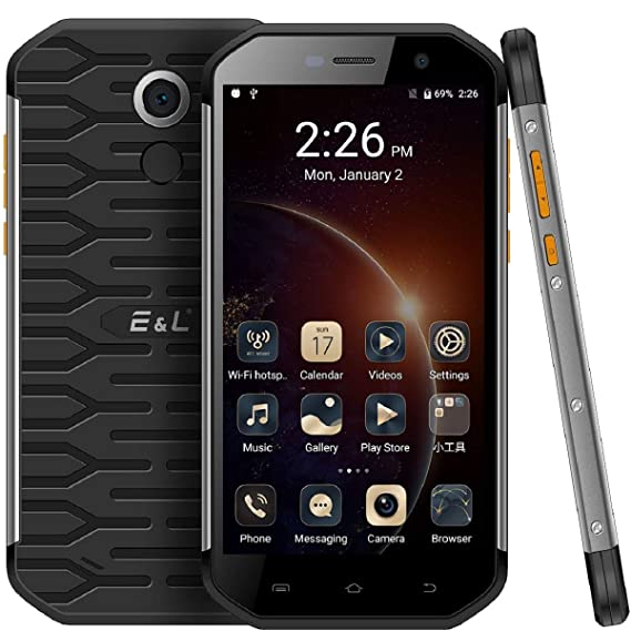 E&L S60 Rugged Smartphone Unlocked with IP68 Waterproof Dustproof 4G LTE  Rugged Cell Phone Android 7 0 Unlocked Outdoor Cellphone AT&T And T-Mobile
