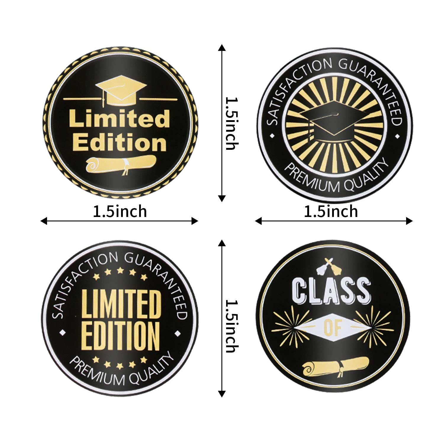 Graduation Stickers Graduation Envelope Sealing Sticker Self-Adhesive Gift Circle Label for Graduation Party Wrapping Supplies Style 1, 720 Pieces