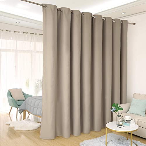 Deconovo Privacy Room Divider Curtain Thermal Insulated Blackout Curtains Screen  Partition Room Darkening Panel For Apartment