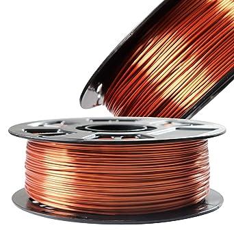 Amazon.com: Filamento de impresora 3D de cobre brillante ...